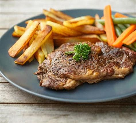 recette entrecote grillee  frites maison