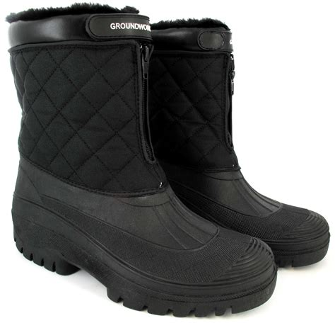 boots for winter mens new mens snow fur boots waterproof mucker warm thermal