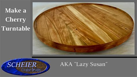 how to make a lazy susan for a kitchen cabinet how to make a lazy susan cherry turntable woodworking