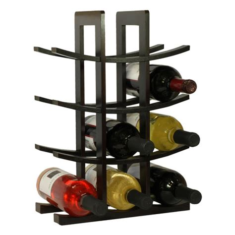 the 12 bottle espresso bamboo wine rack by oceanstar