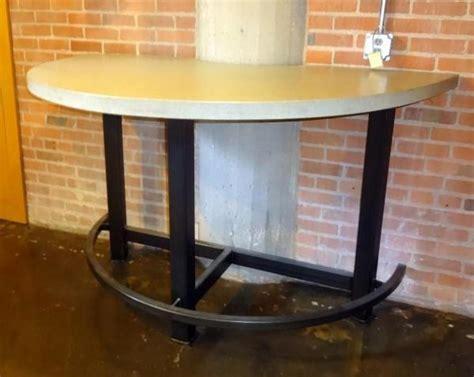 half moon bar table custom made industrial style half moon bar table with