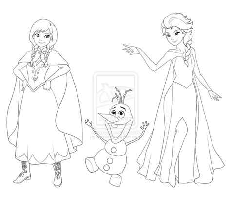 frozen elsa coloring pages easy sketch of elsa full body drawings coloring pages