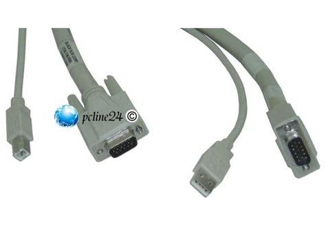 Kabel Usb Hub vga kabel mit usb f 252 r monitor mit integriertem usb hub kabel 10014995