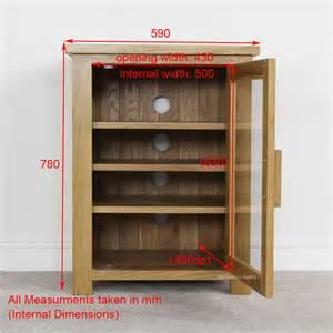 oak doors oak hi fi cabinets with glass doors