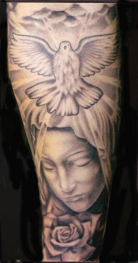 religious rose tattoos jesusand religous tattoos sleeve nick trammel 1