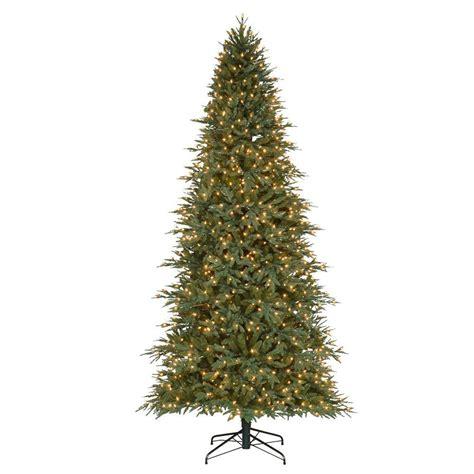 tree 9 ft pre lit 9 ft pre lit pomona pe pvc artificial set