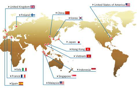 Tshirt Kaos Map Of World kaos hirose terkenal di seluruh dunia