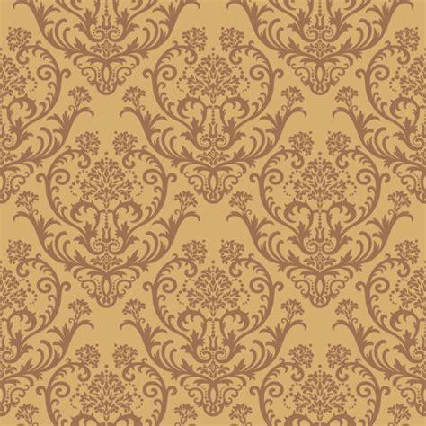 brown flower pattern set of modern brown floral pattern vector material 01
