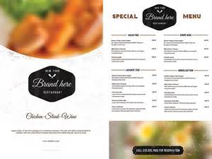design a menu template free vintage food menu template free