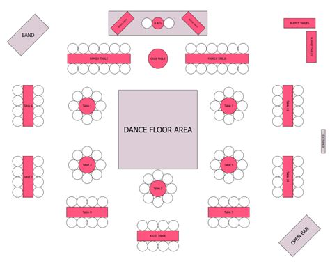 event table layout planner reception seating kinda but with all round tables for the