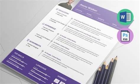 Resume Template Ux by Ux Designer Resume Template In Ms Word Docx Psd Formats
