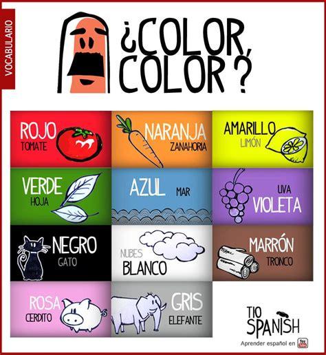 color in spanish recurso educativo para aprender los colores en espa 241 ol