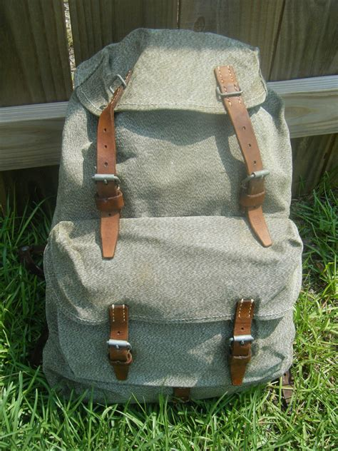Swiss Army Tali Canvas 1 vintage swiss salt and pepper canvas small backpack