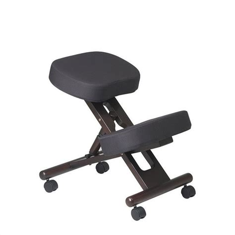 ergonomic wood knee w memory foam espresso office