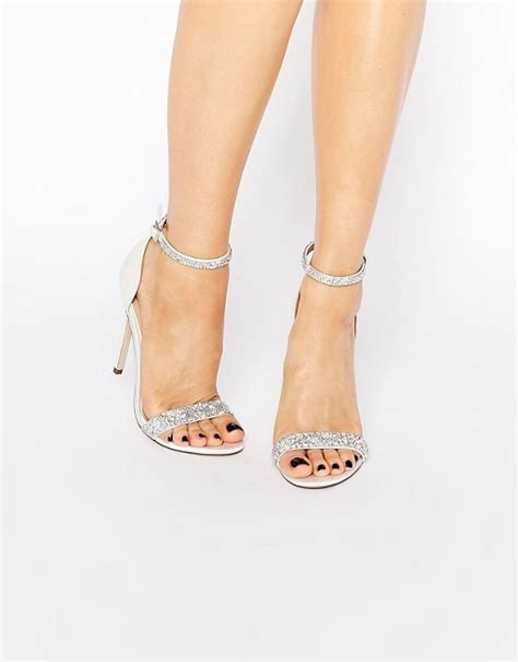 embellished wedding sandals asos asos heated bridal embellished heeled sandals