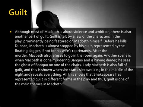 themes macbeth guilt themes in macbeth