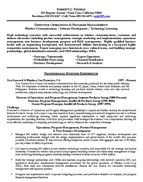 Resume sample 12 technology executive resume career resumes