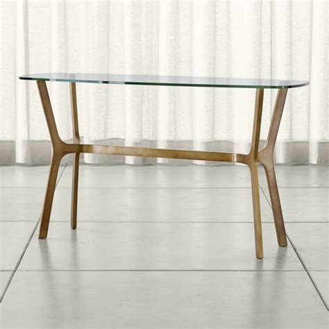 Elke Glass Console Table Crate And Barrel Crate And Barrel Sofa Table