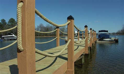 How To Stain Wood Banister Dock Services Of Lake Norman After New Handrails