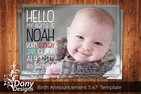free baby birth announcement templates buy 1 get 1 free birth announcement neutral baby by