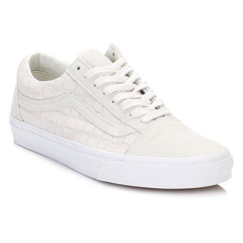 vans sport shoes vans mens white trainers suede skool sport casual