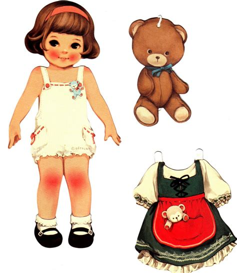 Paper Doll For - with teddy paper dolls