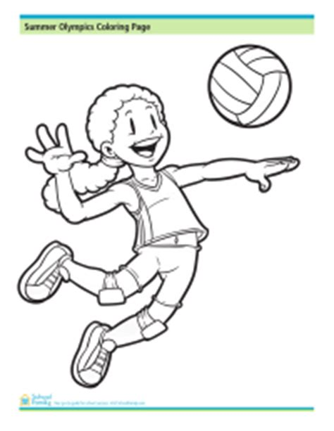 coloring pages of a volleyball player sports coloring pages schoolfamily