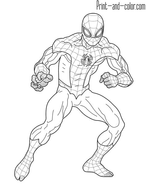 spider man coloring pages print  colorcom