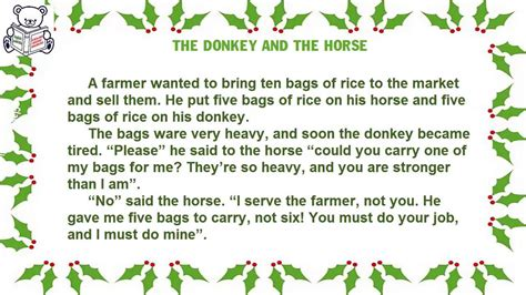 themes of the story a horse and two goats english short stories for beginner lesson 298 the