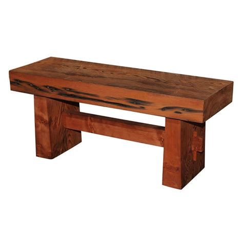 Crafted Russian Redwood Pc by Russian River Redwood Bench At 1stdibs