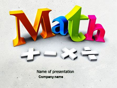 Math Powerpoint Templates And Backgrounds For Your Presentations Download Now Poweredtemplate Com Powerpoint Math Templates