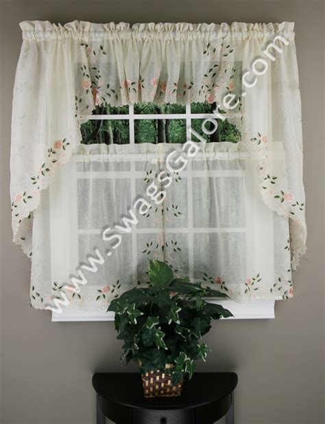 Rosemary Kitchen Curtains Linen Lorraine Home Fashions Lined Kitchen Curtains