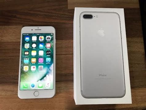 apple iphone 7 plus 128 gb silver unboxing