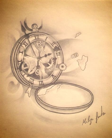 broken clock by melisafortintattoo on deviantart
