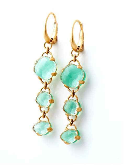 pomellato uk pomellato pink gold chrysoprase earrings at