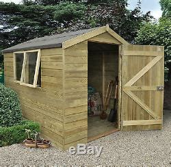 Garden Shed Names by 8ft X 6ft Wooden Garden Shiplap Cladding Apex Shed