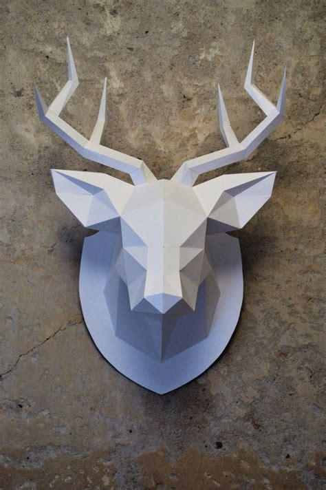 Papercraft Deer - faceted papercraft deer thanks https www behance