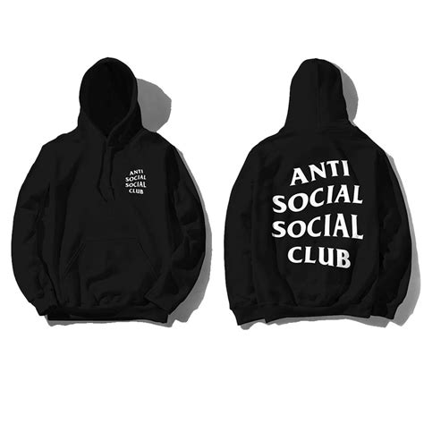 Hoodie Assc Anti Social Social Club Real Picture anti social social club hoodie black hiphopfashion