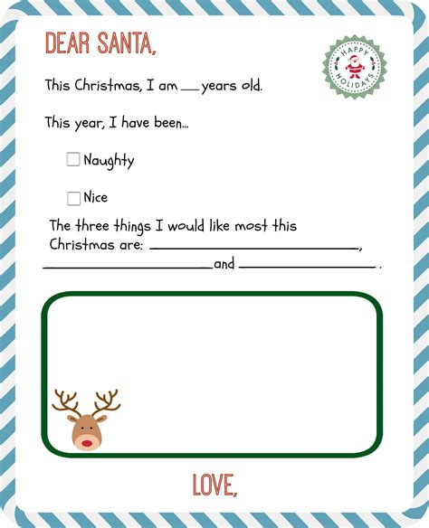 printable letter santa templates