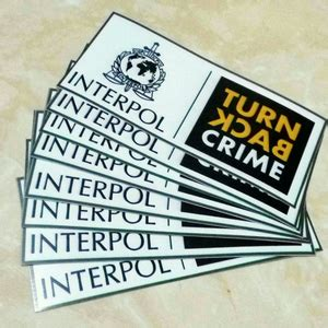 Mug Cetak Turn Back Crime Tkc02 stiker stiker interpol turn back crime original