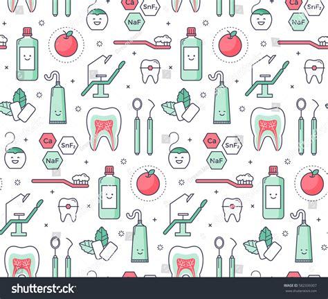 pattern master en francais vector scientific seamless pattern dentist equipment stock
