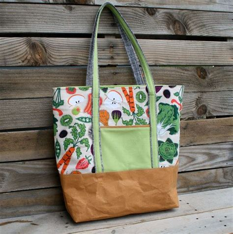 quick tote bag pattern instant download pdf pattern for quick and simple large