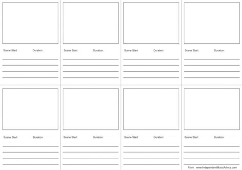 storyboard template free how to create a storyboard for with template