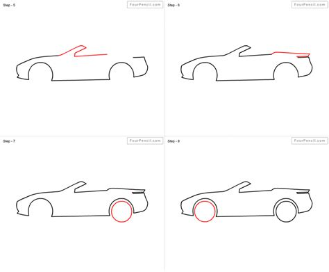 How To Draw A Car Step By Step Pencil Drawing