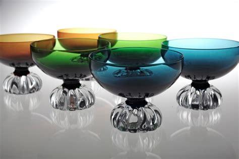 len 70er berlin 6 sektschalen aseda sweden vintage glas 60er 70er jahre