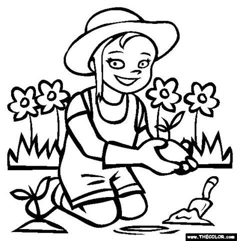 gardening coloring pages for kindergarten gardening coloring page free gardening online coloring