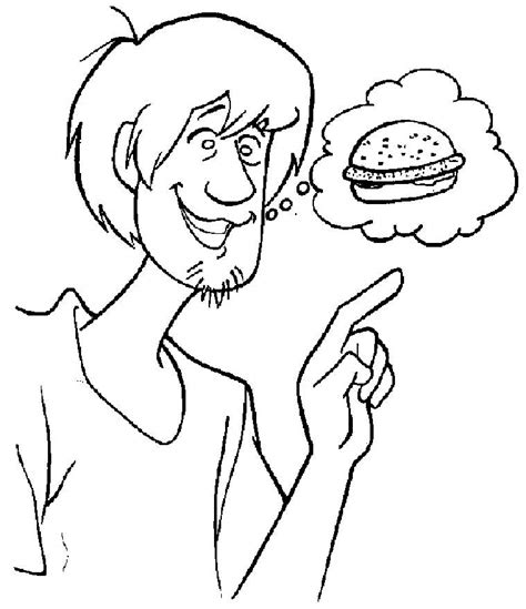 hungry shaggy from scooby doo pages and sheets coloring