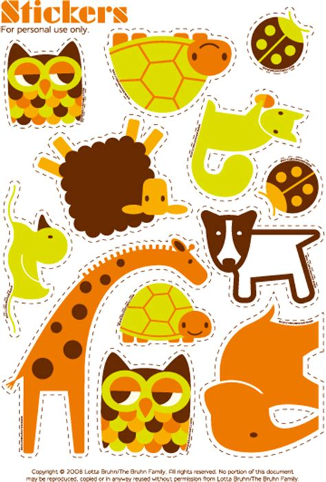 printable stickers of animals lotta bruhn printable animal stickers crafts