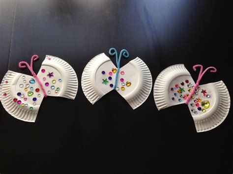 Butterfly Paper Plate Craft - of 5 paper plate jeweled butterfly craft
