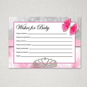 Wish Book For Baby Shower by Free Printable Baby Shower Wish Cards For Baby